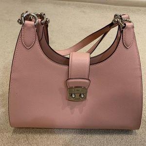 coach shoulder bag, pink